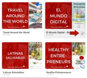Cómo crear portadas para tableros de Pinterest